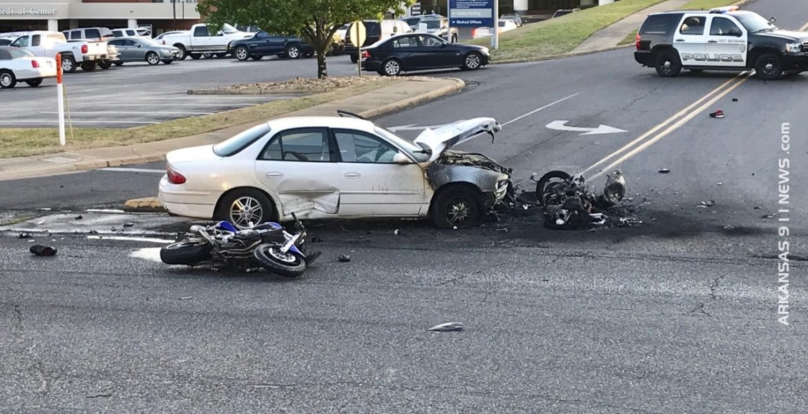 Fatal Motorcycle Crash In Front Of Hospital - HOT SPRINGS - Arkansas