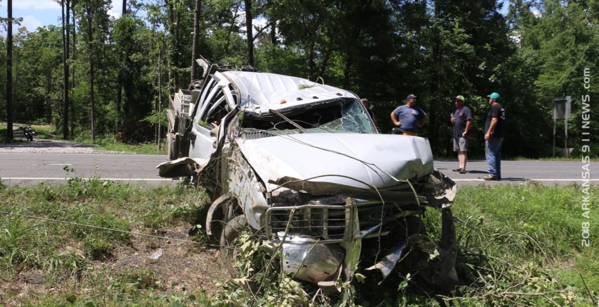 Rollover Injury Crash On Highway 70 - BONNERDALE - Arkansas 911 News