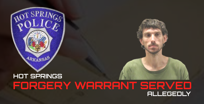 Warrant Served On Forgery Suspect